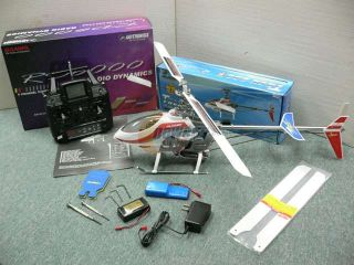 T Rex (TREX) 450 Belt Drive Collective Pitch Rc Helicopter W/Extras