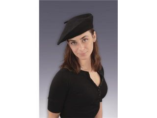 Black French Beret Adult Costume Hat