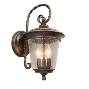 Hampton Bay Oil Rubbed Bronze 3 Light Outside Wall Lantern GTP1613A