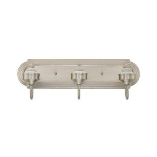 3 Light Brushed Nickel Wall Fixture 6300800