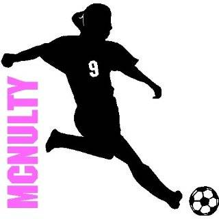 Personalized Flying Soccer Ball Name Wall Decal