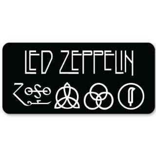 Led Zeppelin heavy metal ZOSO sticker decal 5 x 3